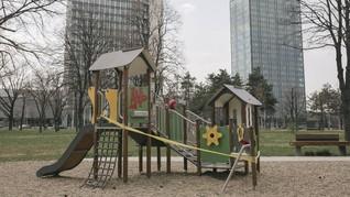 FOTO: Garis Polisi di Taman Bermain Beograd