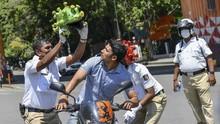 FOTO : Kampanye 'Polisi Corona' Ala India