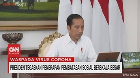 VIDEO: Jokowi Instruksikan Menkes Rampungkan PM Terkait PSBB