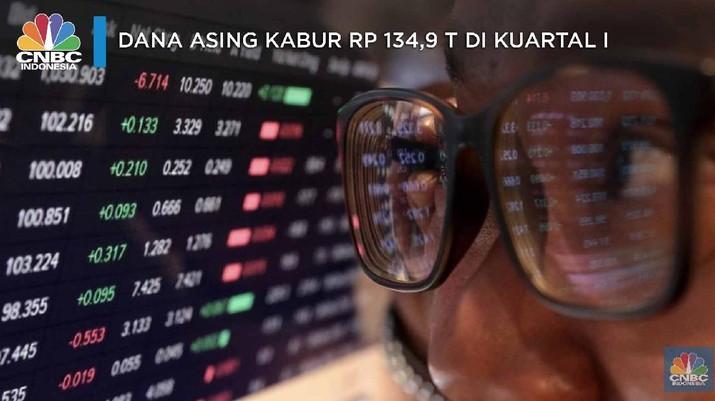 Dana Asing Kabur Rp 134,9 T di Kuartal I