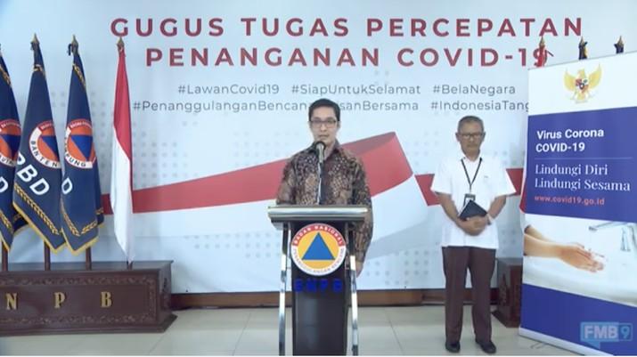Ketua Relawan Covid-19 Andre Rahadian (Youtube BNPB Indonesia)