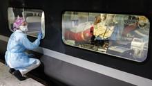 FOTO: Kereta Cepat Prancis Disulap untuk Angkut Pasien Corona