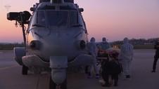 VIDEO: Helikopter Militer Dilibatkan Pindahkan Pasien Corona