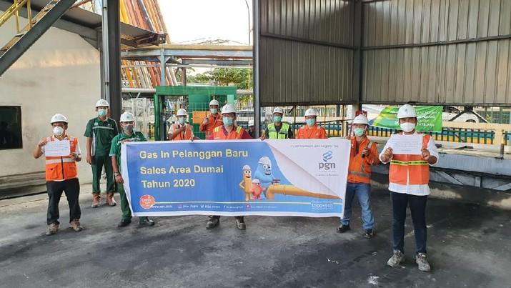Telah dilaksanakan pengaliran gas pertama kali (Gas In) PT Kuala Lumpur Kepong (KLK) Dumai yang berlokasi di Kawasan Pelindo I Cabang Dumai.