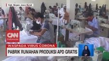 VIDEO: Pabrik Rumahan Produksi APD Gratis