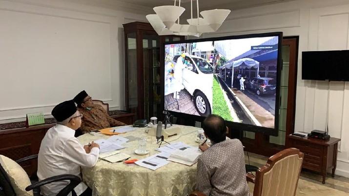 Video Conference, Wapres dan Gubernur Jabar. (setwapres)
