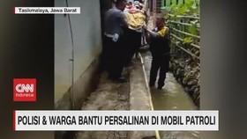 VIDEO: Polisi & Warga Bantu Persalinan di Mobil Patroli