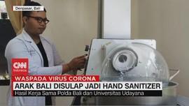 VIDEO: Arak Bali Disulap Jadi Hand Sanitizer
