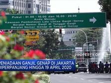 Peniadaan Ganjil Genap di DKI Diperpanjang Hingga 19 April