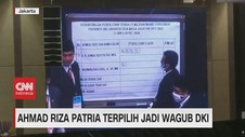 VIDEO: Ahmad Riza Patria Terpilih Jadi Wagub DKI
