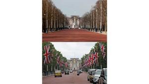 FOTO: Denyut Kehidupan London Sebelum dan Saat Lockdown