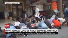 VIDEO: Dapat Asimilasi Covid-19, Warga Binaan Sujud Syukur