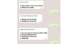Chatbot Lapor Warga RI Terpapar Corona Sudah Ada di Whatsapp
