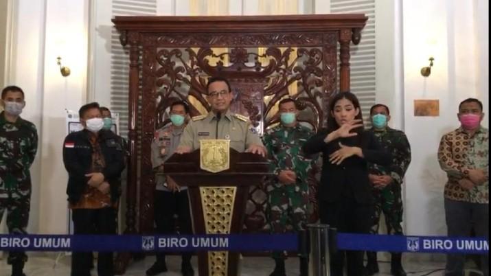 Gubernur DKI Jakarta Anies Baswedan mengumumkan PSBB Jakarta berlaku mulai 10 April, ini pernyataan lengkapnya