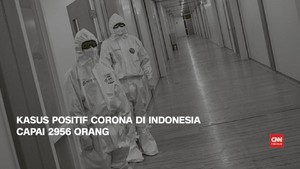 VIDEO: 8 April, Kasus Positif Corona di Indonesia Capai 2.956