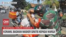 VIDEO: Koramil Bagikan Masker Gratis Kepada Warga