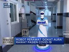 Canggih! Robot Perawat 'Dokat Aura' Rawat Pasien Covid-19