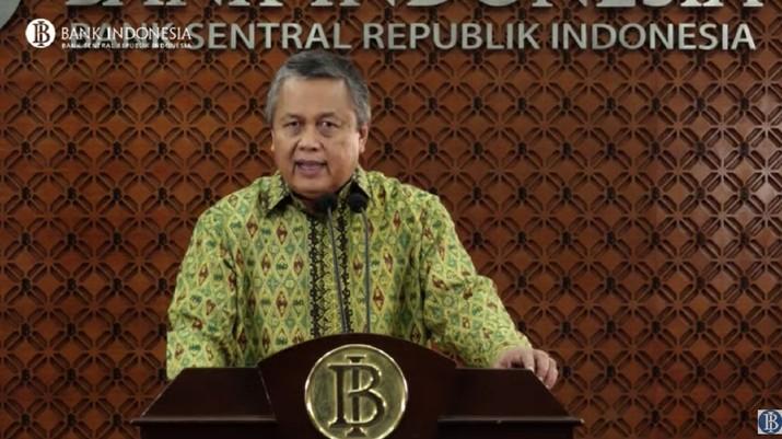 Gubernur BI Perry Warjiyo menyampaikan perkembangan ekonomi terkini (Youtube Bank Indonesia)