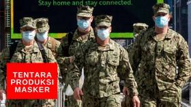 VIDEO: Tentara AS Ditugaskan BIkin Masker