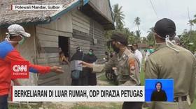 VIDEO: Berkeliaran di Luar Rumah, ODP DIrazia Petugas