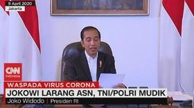 VIDEO: Jokowi Larang ASN, TNI & Polri Mudik