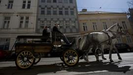 FOTO: 'Delman' di Austria Antar Makanan untuk Lansia