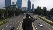FOTO: Melihat Jakarta di Hari Pertama PSBB Cegah Corona