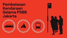 INFOGRAFIS: Pembatasan Kendaraan Selama PSBB di Jakarta