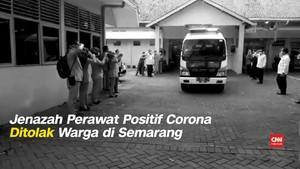 VIDEO: Jasad Perawat Positif Corona Ditolak Warga di Semarang