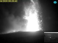 Penampakan Meletusnya Gunung Anak Krakatau dari CCTV