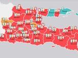Ini Peta Sebaran Kasus Corona Jatim, Surabaya Terbanyak