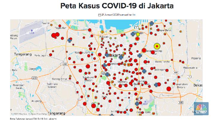 Peta Corona Jakarta 13 April 2020