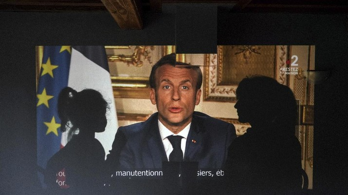 Prancis perpanjang masa Lockdown. (AP/Laurent Cipriani)