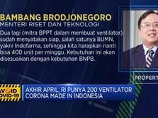 Akhir April, RI Punya 200 Ventilator Corona Made In Indonesia