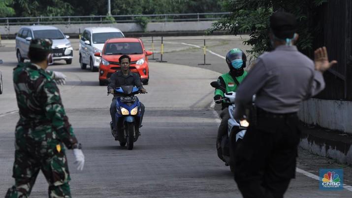 Pemberlakuan PSBB di Depok (CNBC Indonesia/Andrean Kristianto)