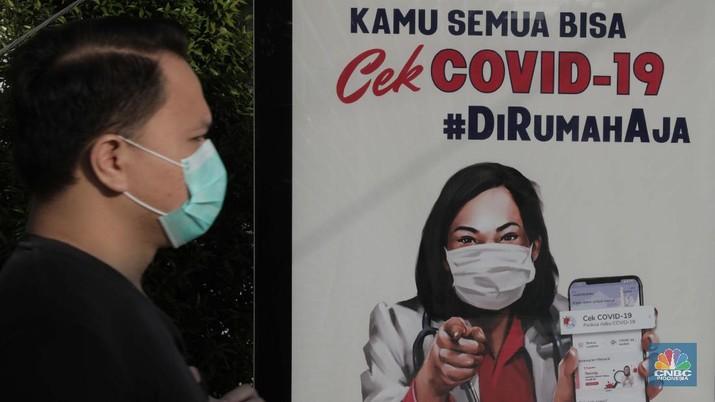 Suasana Stasiun Bogor di PSBB hari Pertama (CNBC Indonesia/Muhammad Sabki)
