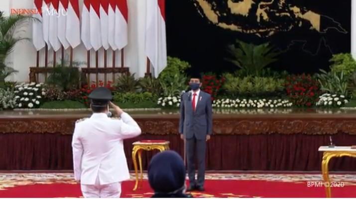 Presiden Joko Widodo Melantika Wagub DKI Jakarta (Youtube Sekretariat Presiden)