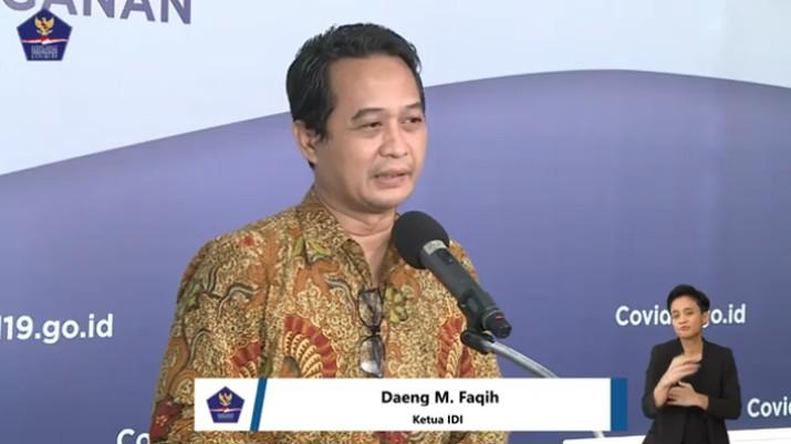 Ketua Ikatan Dokter Indonesia (IDI), Daeng M. Faqih (Youtube BNPB Indonesia)