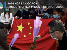 Jadi Korban Corona, Ekonomi China Minus 6,8% di Q1-2020