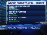Indeks Wall Street Futures Melonjak Lebih Dari 3%