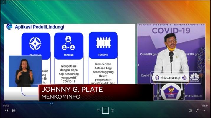 Menkominfo Johnny G Plate