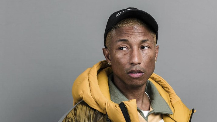 This Dec. 4, 2019 photo shows Pharrell Williams posing for a portrait in New York. (Photo by Christopher Smith/Invision/AP)