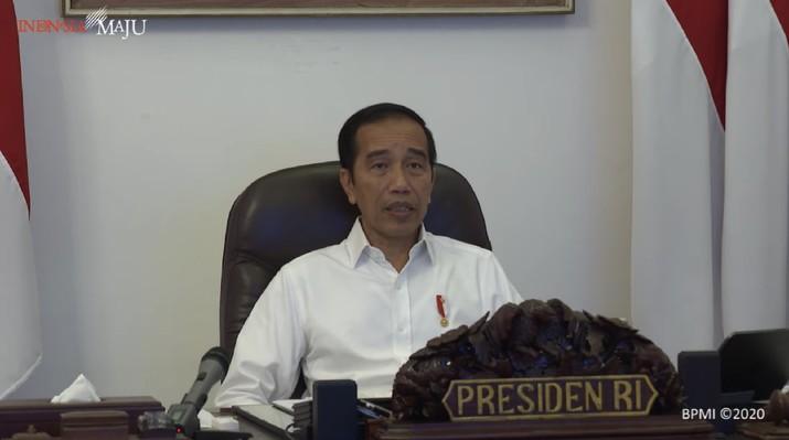 Presiden Jokowi Ratas Antisipasi Kebutuhan Bahan Pokok, Istana Merdeka, 21 April 2020 (BPMI)