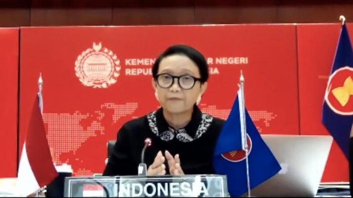 Menteri Luar Negeri RI, Retno Marsudi (Screenshot)