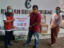 Pertamina Salurkan APD ke Sejumlah Faskes Kabupaten Bogor
