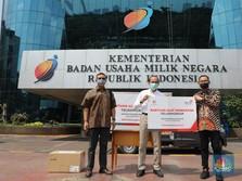 TelkomGroup Serahkan 44 Ventilator kepada Yayasan BUMN