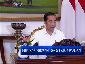 Jokowi Ungkap Stok Pangan Defisit di Puluhan Provinsi