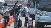 Pangkogab Wilhan I Laksamana Madya TNI Yudo Margono mengatakan WNI ABK MV Dream Explorer itudibawake tiga hotel di wilayah Jakarta Selatan untuk menjalani isolasi mandiri. (ANTARA FOTO/Nova Wahyudi)