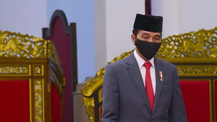 Pengucapan Sumpah/Janji Ketua MA dan Hakim Konstitusi, Istana Negara, 30 April 2020. Foto: Muchlis Jr - Biro Pers Sekretariat Presiden