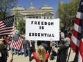FOTO : Gelombang Protes Anti Lockdown Berlanjut di AS